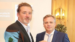 Geschäftsführer Stefan Helm mit Christoph Baldegger